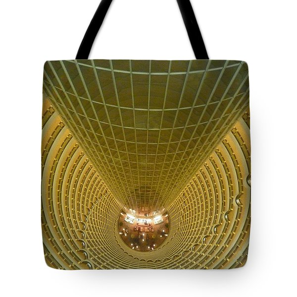 Abstract In Gold Tote Bag by Alan Socolik