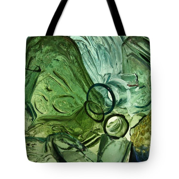 Abstract In Green Tote Bag