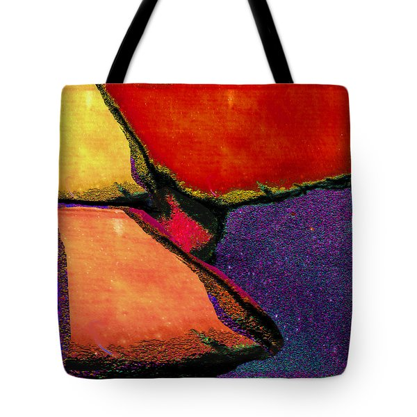 Abstract In Reds Tote Bag