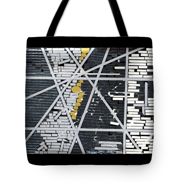 Abstract In Tape And Letterforms 5 Tote Bag by Agustin Goba