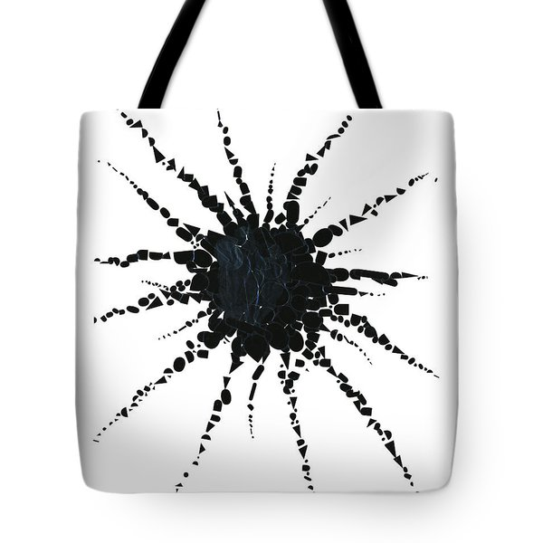Abstract In Tape And Letterforms Three Tote Bag by Agustin Goba