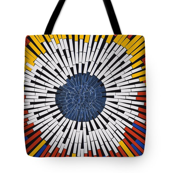 Abstract In Tape - Starburst Tote Bag by Agustin Goba