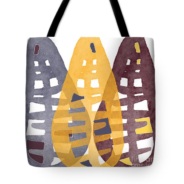 Abstract Indian Corn Tote Bag by Linda Woods