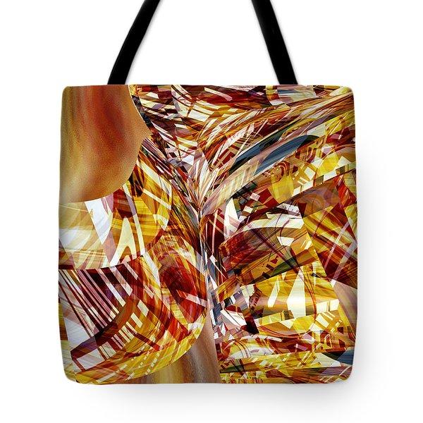 Kimono Silk -  Abstract Art Tote Bag