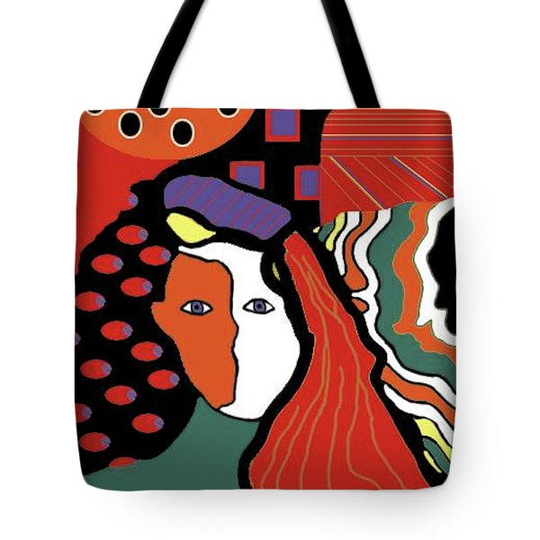 Abstract Lady Tote Bag