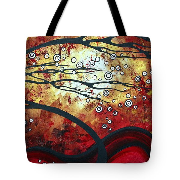 Abstract Landscape Art Original Painting Where Dreams Are Born By Madart Tote Bag by Megan Duncanson