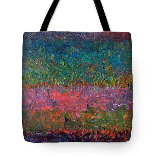 Abstract Landscape Series - Wildflowers Tote Bag