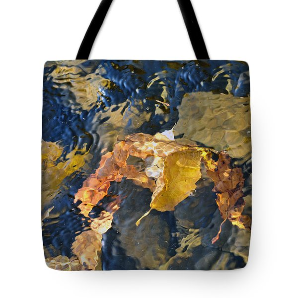 Abstract Leaves In Water Tote Bag by Dan Friend