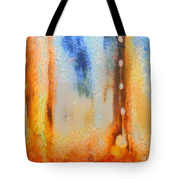 Abstract Lift Off  Tote Bag by Pixel Chimp