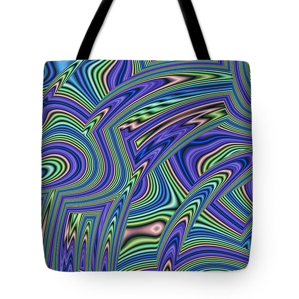 Abstract Lines Tote Bag by John Edwards