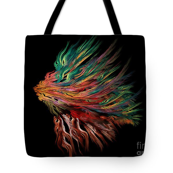 Abstract Lion's Head Tote Bag
