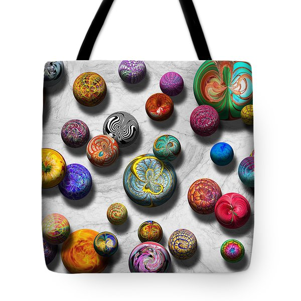 Abstract - Marbles Tote Bag by Mike Savad