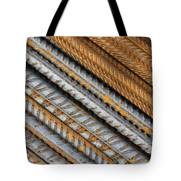 Abstract Metal Texture Pattern Tote Bag