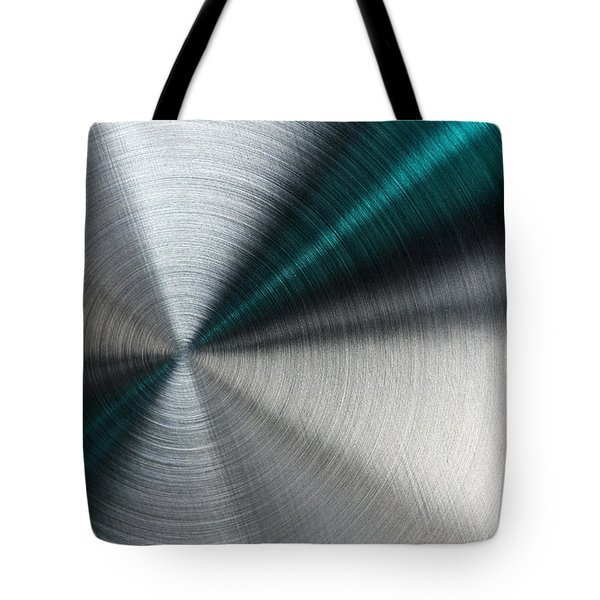 Abstract Metallic Texture With Blue Rays. Tote Bag
