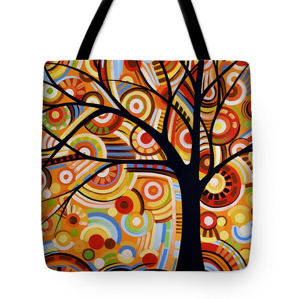 Abstract Modern Tree Landscape Thoughts Of Autumn By Amy Giacomelli Tote Bag