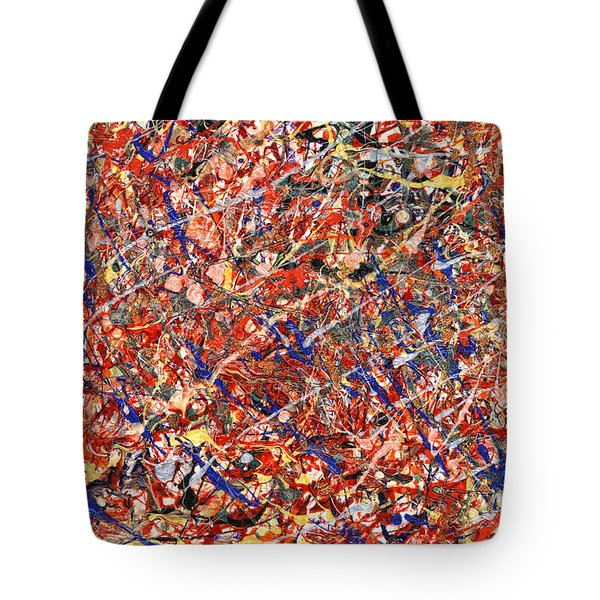 Abstract - Nail Polish - Clown Suicide Tote Bag by Mike Savad