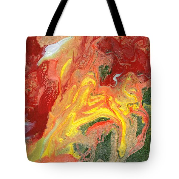 Abstract - Nail Polish - In A State Of Flux Tote Bag by Mike Savad
