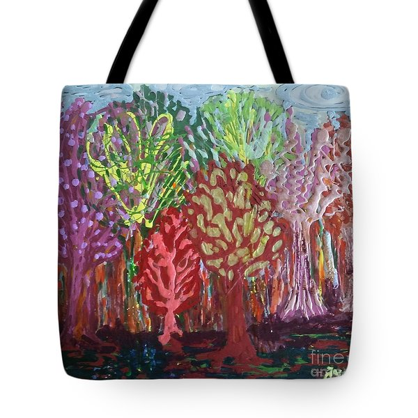 Tote Bag featuring the painting Abstract Nail Polish Jg2 by Jasna Gopic