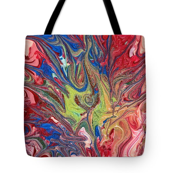 Abstract - Nail Polish - The Meaning Of Life Tote Bag by Mike Savad