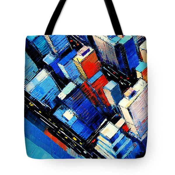 Abstract New York Sky View Tote Bag