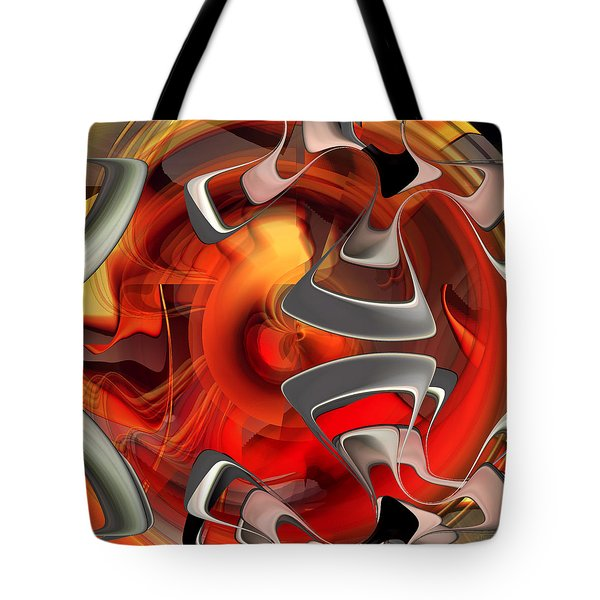 Abstract Number 009  Tote Bag by rd Erickson