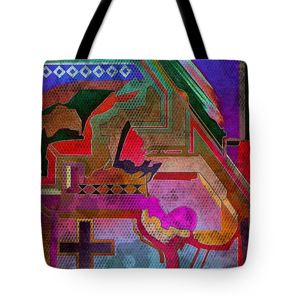 Abstract On A Navajo Theme Tote Bag by Scott Kingery