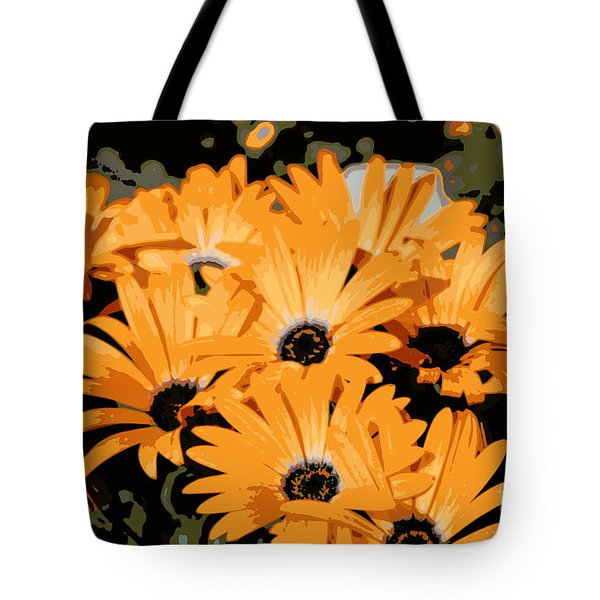 Tote Bag featuring the photograph Abstract Orange Daisy by Kenny Glotfelty