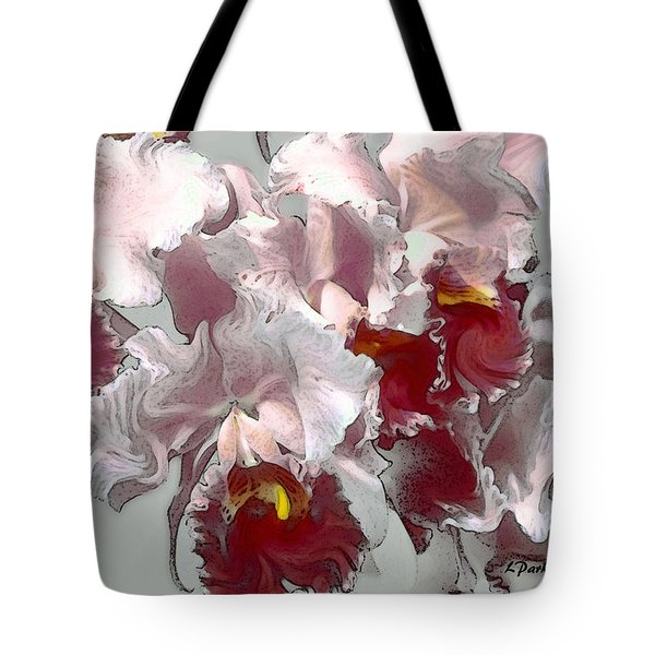 Abstract Orchid Tote Bag by Linda  Parker