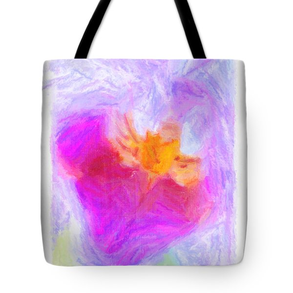 Abstract Orchid Pastel Tote Bag by Antony McAulay