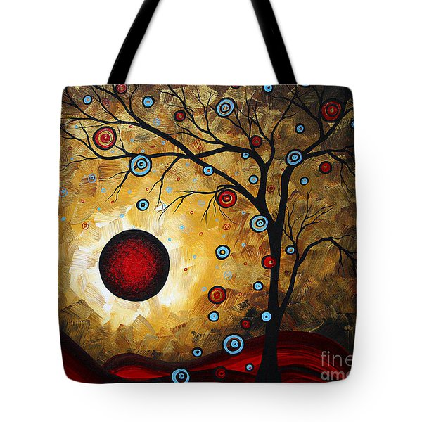 Abstract Original Gold Textured Painting Frosted Gold By Madart Tote Bag by Megan Duncanson