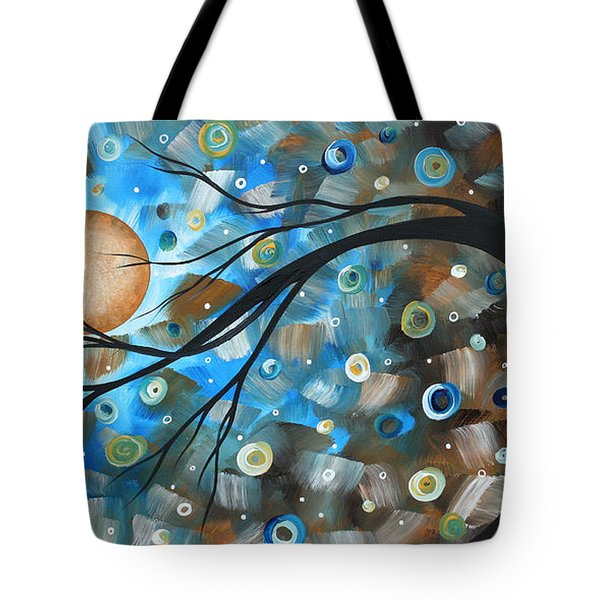 Abstract Original Landscape Art In A Trance Art By Madart Tote Bag by Megan Duncanson