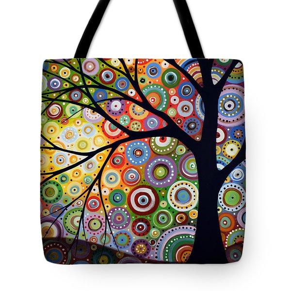 Abstract Original Modern Tree Landscape Visons Of Night By Amy Giacomelli Tote Bag