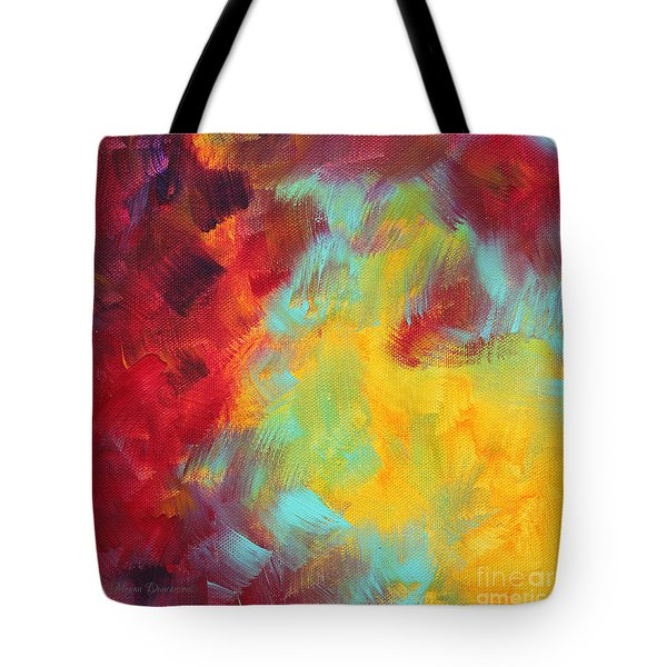 Abstract Original Painting Colorful Vivid Art Colors Of Glory I By Megan Duncanson Tote Bag by Megan Duncanson