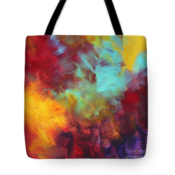 Abstract Original Painting Colorful Vivid Art Colors Of Glory II By Megan Duncanson Tote Bag by Megan Duncanson