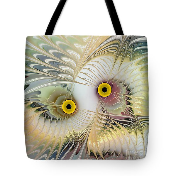 Abstract Owl Tote Bag