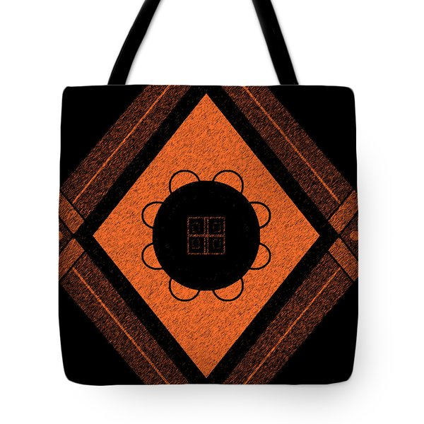 Printed Brown Tote Bag