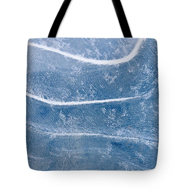 Abstract Patterns In The Ice During Tote Bag by Kevin Smith