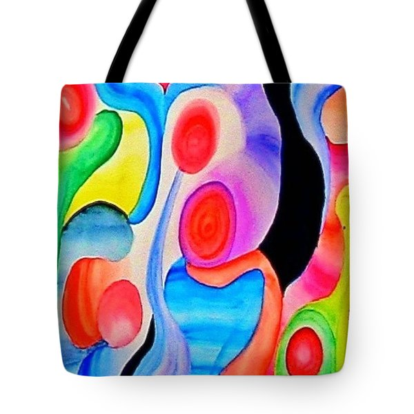 Abstract Peacock Tote Bag