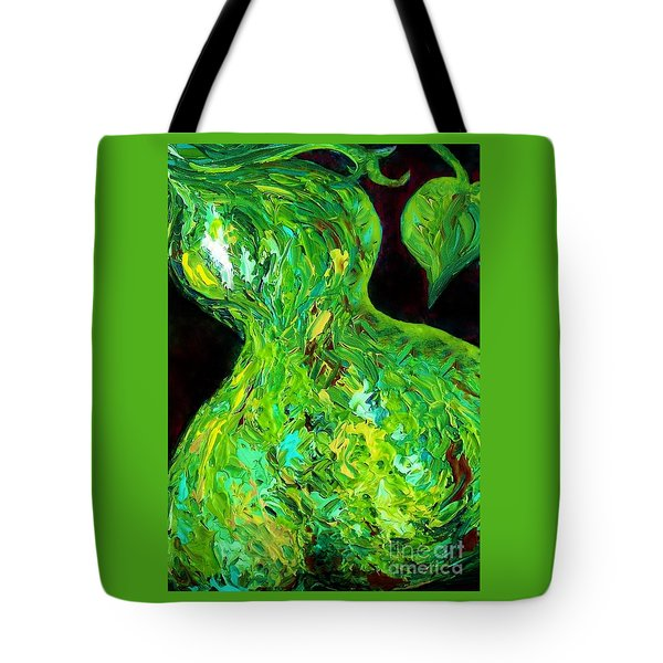 Abstract Pear Tote Bag by Eloise Schneider