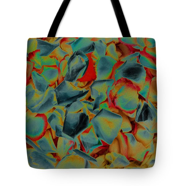 Tote Bag featuring the photograph Abstract Rose Petals by Mae Wertz