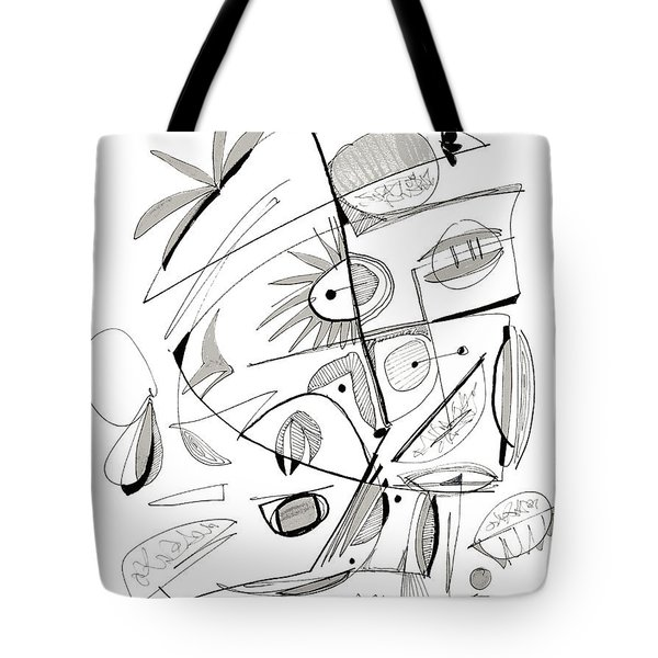 Abstract Pen Drawing Sixty-seven Tote Bag