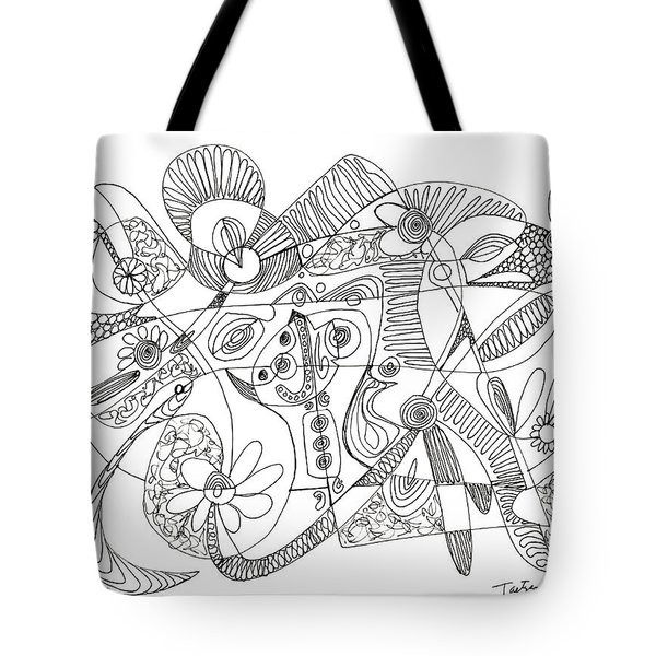 Abstract Pen Drawing Thirty-eight Tote Bag