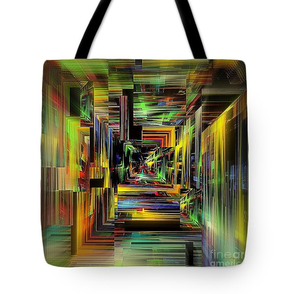Tote Bag featuring the digital art Abstract Perspective E3 by Greg Moores