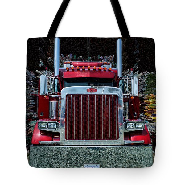 Abstract Peterbilt Tote Bag