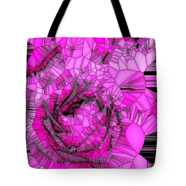 Abstract Pink Rose Mosaic Tote Bag