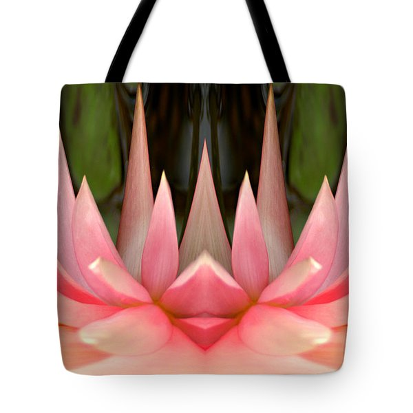 Abstract Pink Water Lily Tote Bag