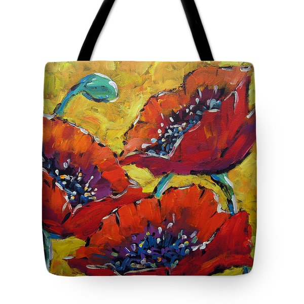 Abstract Poppies By Prankearts Tote Bag