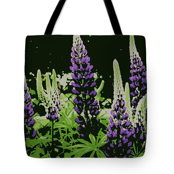 Tote Bag featuring the photograph Abstract Purple Lupine by Kenny Glotfelty