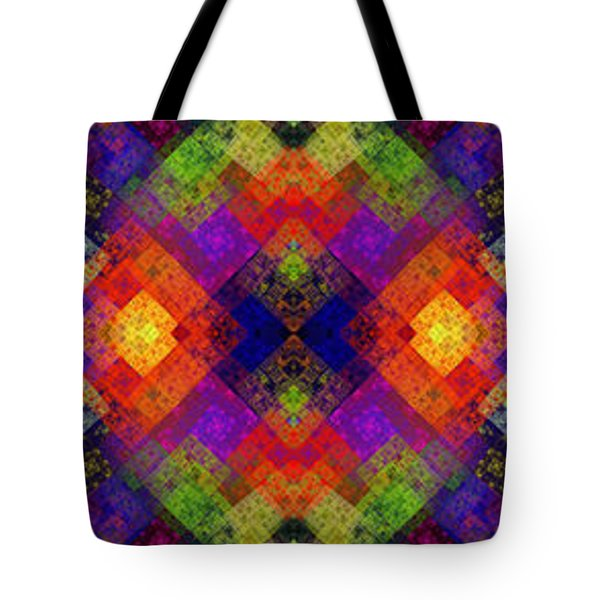 Abstract - Rainbow Connection - Panel - Panorama - Horizontal Tote Bag by Andee Design