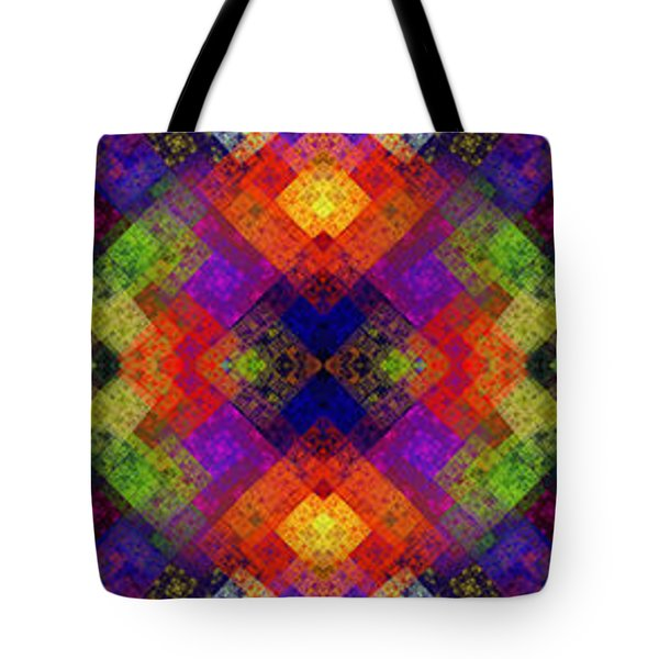 Abstract - Rainbow Connection - Panel - Panorama - Vertical Tote Bag by Andee Design
